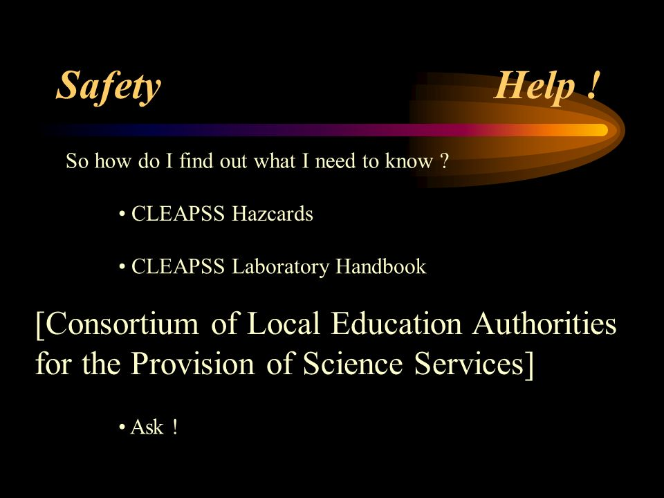 Safety Help ! [Consortium of Local Education Authorities